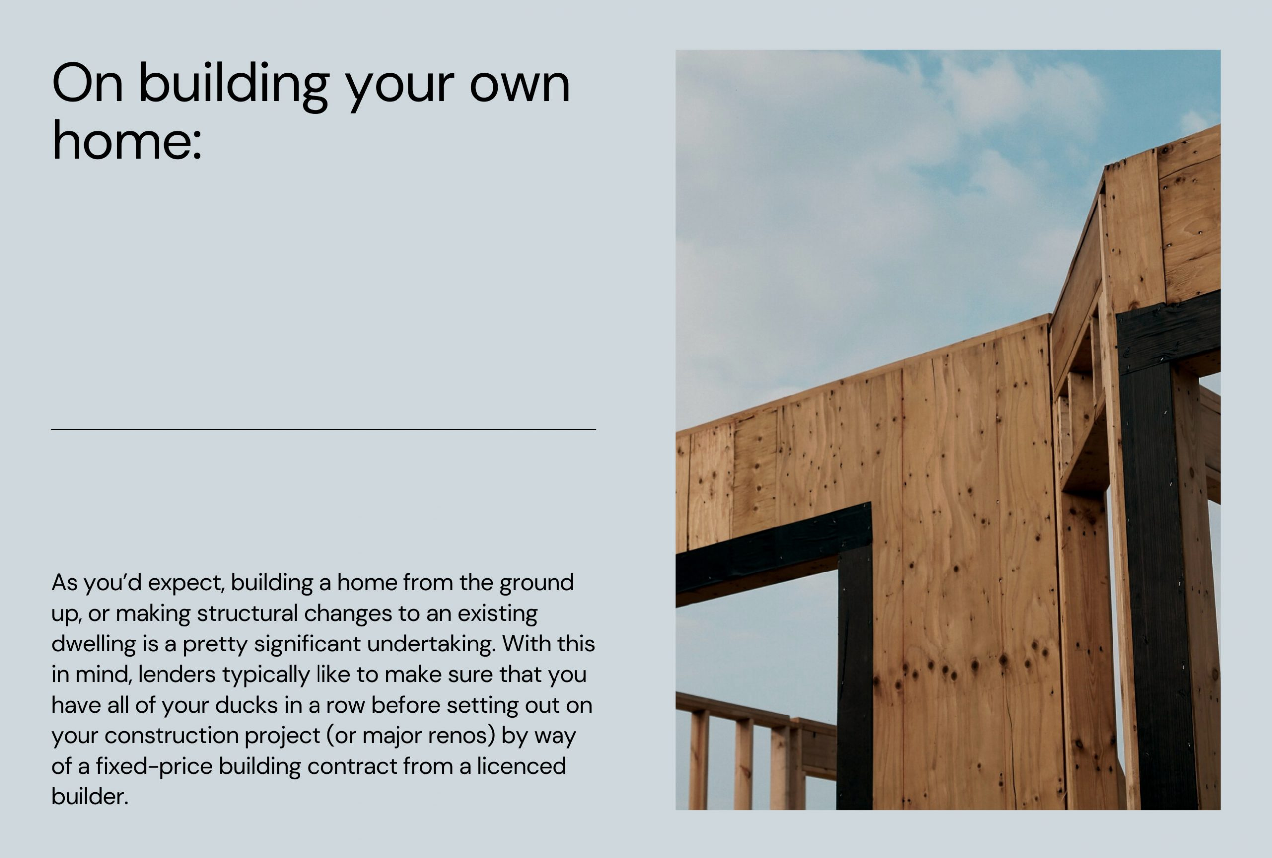 Building a home? Here's what to consider